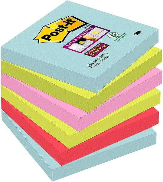 best selling Post-it Notes 76 x 76 mm Super Sticky Notes,Students, office supplies,(100 Sheets per pad)