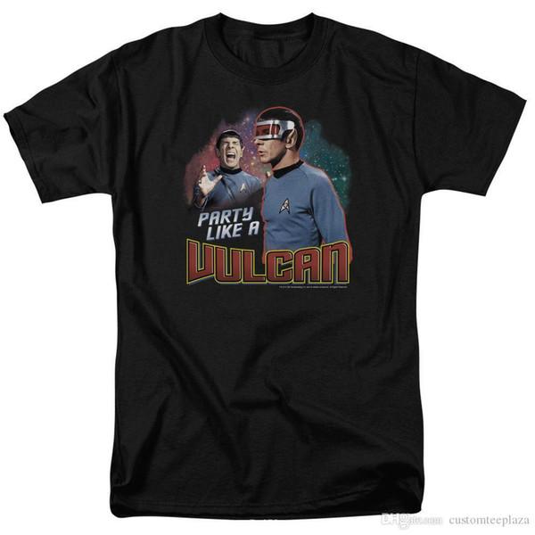 Original Star Trek Spock Party Like A Vulcan Tee Shirt Adult Sizes S-3Xl T Shirt Men Male Casual Short Sleeve Cotton Custom Big