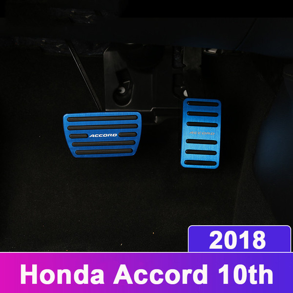 Car Styling Accelerator Gas Pedal Brake Pedal Non Slip Pedal Pads Cover AT For Honda Accord 10th 2018 Accessories