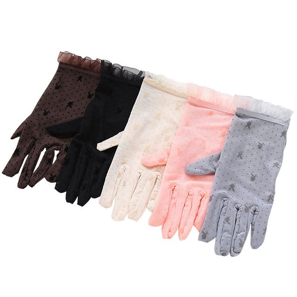 Lovely Lace Gloves Rabbit Pattern For Women Fashion Ladies Girls Female Driving Sunscreen Protection Gloves
