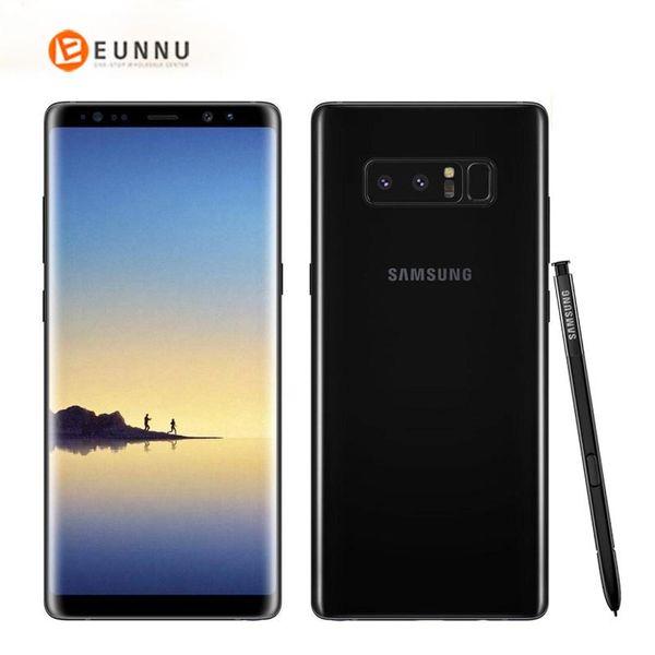Teléfono original Samsung Galaxy Note 8 N950F 4G LTE 6GB 64GB doble trasero 12.0MP 6.3 pulgadas Snapdragon 835 de huellas dactilares impermeable