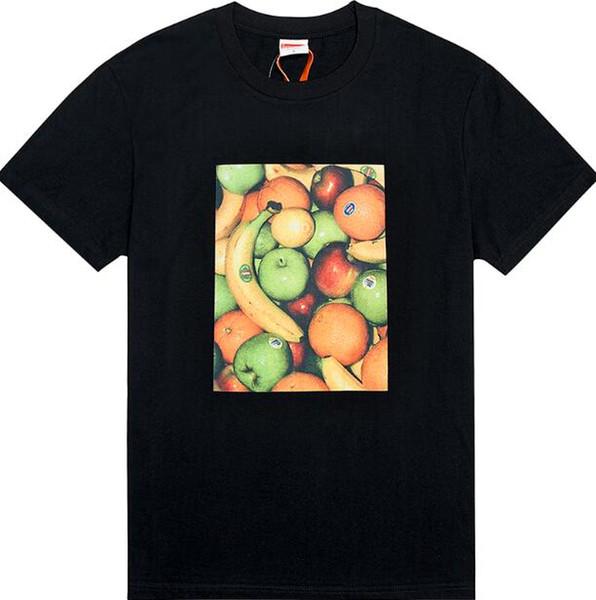 2019 FW Yaz erkek S 19SSWEEK1 Meyve Tee Meyve Baskı Silindirik Tişört S-XL YÜCE yüksek kalite