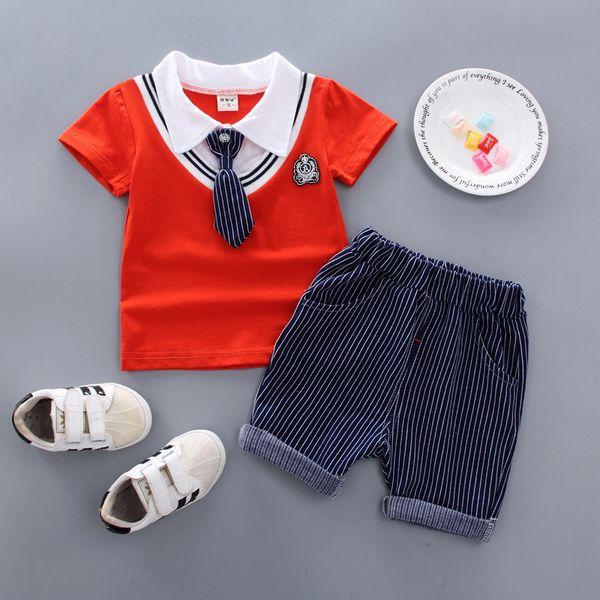 2019 Baby Boy Clothes Bambini Boys Clothing Set T-Shirt + pantaloncini stile moda Set 2 pezzi Tuta Set Abbigliamento casual per bambini