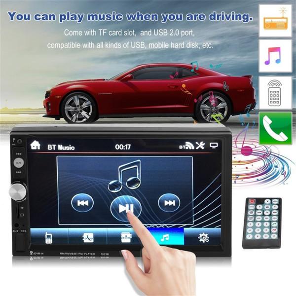 Envío gratis Auto Car Mp5 Player 7 pulgadas Bluetooth FM Radio con cámara de visión trasera Estéreo Multimedia Vehículo Radio Venta caliente