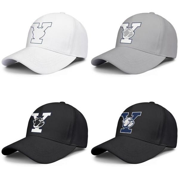 Bulldogs de basket-ball de Yale logo hommes et femmes gris concepteur design casquette de camionneur blanc personnalisé adapté chapeaux personnalisés mieux le football classique vieux