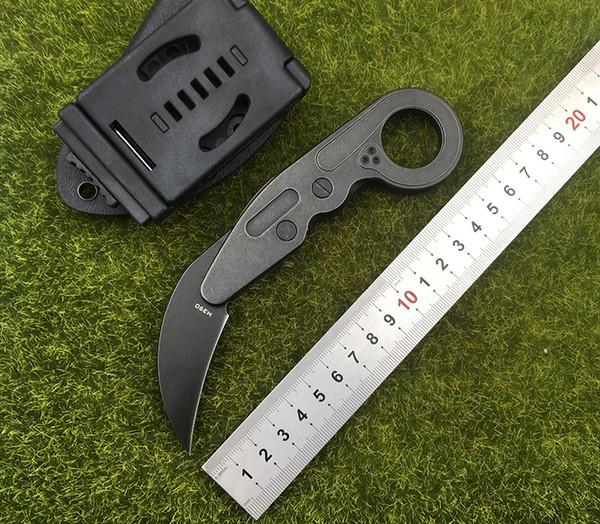 Nuovo coltello meccanico per artiglio Caswell M390 Lama in acciaio polverizzato + impugnatura in acciaio Strumento di caccia EDC multiuso per campeggio all'aperto