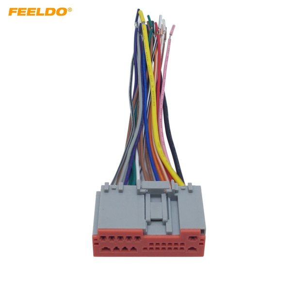 2019 FEELDO Car Radio Player Wiring Harness Audio Stereo Wire Adapter on