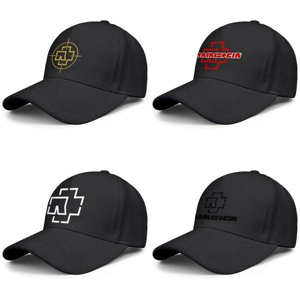 Fascia di musica Rammstein nero per gli uomini e le donne Trucker Cap sport fresco di design personalizzati montati squadra moda personalizzata logo cappelli stelle