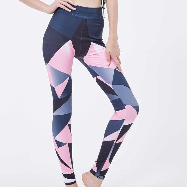 Frauen gedruckt Leggings Mode hohe Taille gedruckt Hosen für Yoga Sport Laufhose mit 10 Farben erhältlich