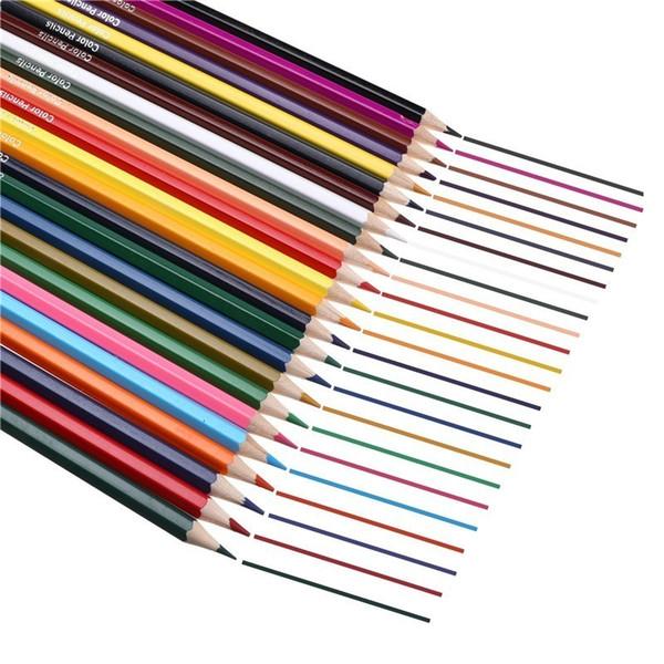 12/18/24pcs Colour Cute Kawaii Wooden Colored Pencil Wood Rainbow Color Pencil For Kid School Graffiti Drawing Painting Pen 5826