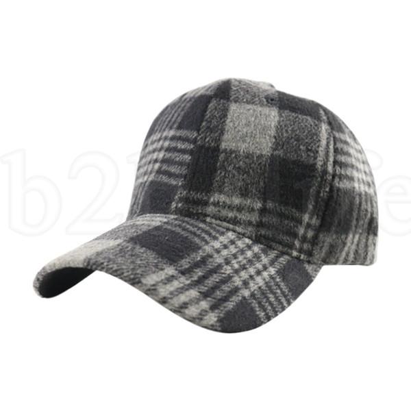 Plaid Snapback Hip Hop Cap Baseball Skateboard Hip Hop Cap Men Women Winter Felt Hats 4 colors LJJK1950