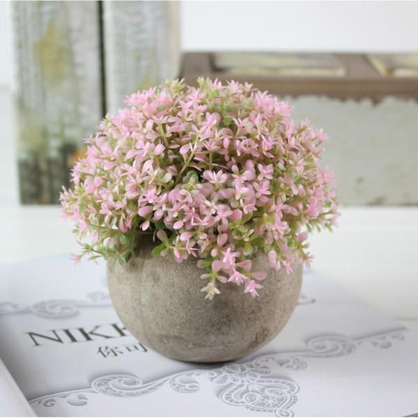 Plastic Office DIY Landscape Retro Bonsai Wedding Garden Grass Ball Hotel Home Decor Party Supplies Artificial Plants Desktop