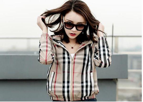 Harajuku Veste Coupe-Vent Femme Veste Nouveau Mode manteau streetwear manteaux coupe-vent mince veste hip à capuche