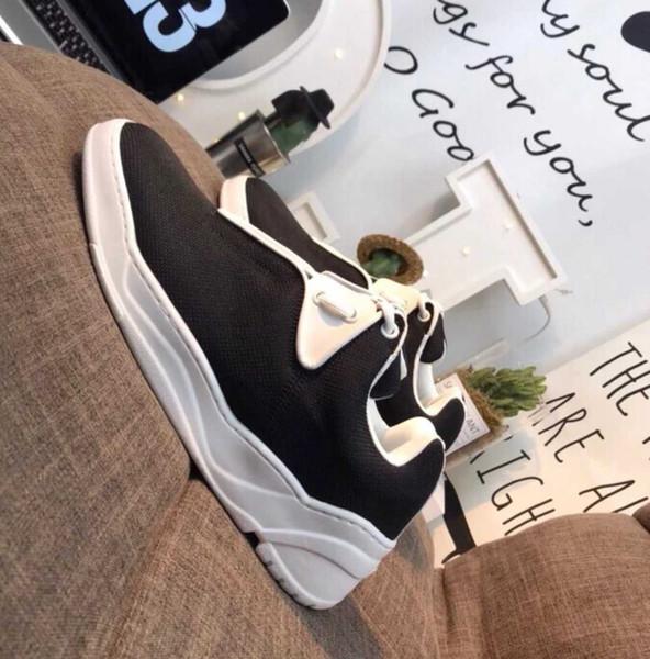Chunky Sneaker Luxury Canvas Runner Shoe Shoes Casual 2019 New Season Sneakers Corredores de calidad superior Zapatillas de senderismo al aire libre con caja Venta caliente