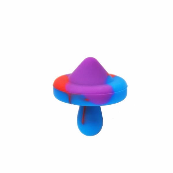 Кварц тепловой Banger Силиконовый карбюратор Cap НЛО карбюратор Cap Domeless для воды Бонг цветной пузырь карбюратор Cap для нефтяных вышек