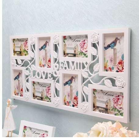 White Multi Photoframe Frames Love Family Picture Wall Decor Photo Frame Gift