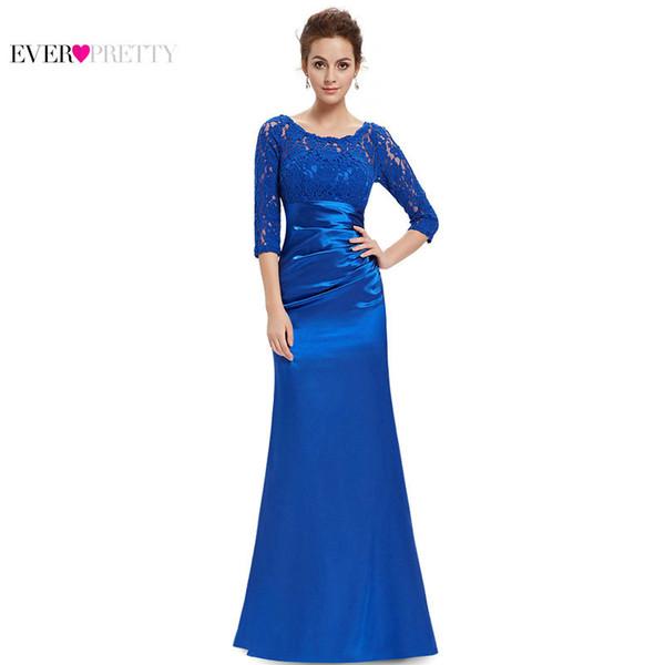 [Распродажа] оптовые женщины старинные длинные платья невесты кружева A-Line 3/4 рукава спинки вечернее платье для вечеринки