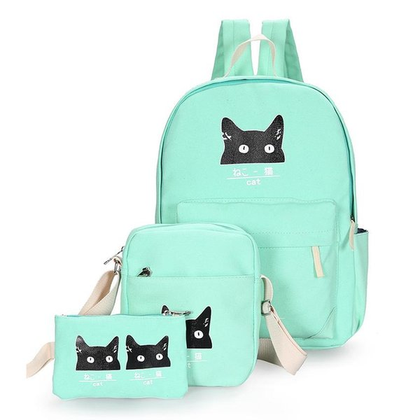 a36dc9a44ca Cute Cats Backpack Fashion Backpack Female Preppy Style Backpacks For  Teenage Girls School Bags Women Bag Canvas Mochila Messenger Bags Leather  ...