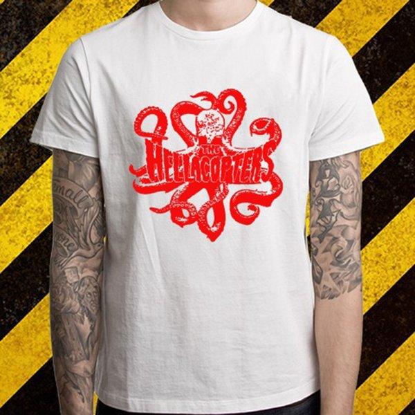 Nouveau The Hellacopters * T-Shirt Homme Blanc Octopus Logo Rock Taille S à 3XL 2019 Nouveau T-shirt Homme à Manches Courtes