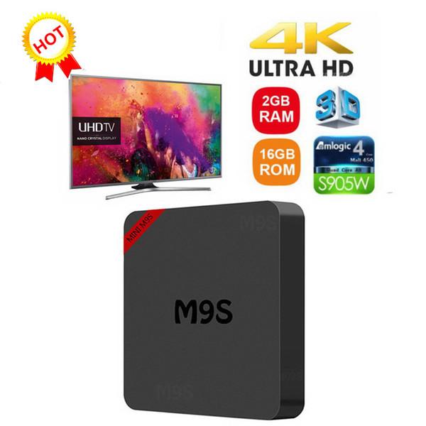 TV Box Android 7.1 Tanix M9S MINI 2 GB 16 GB Amlogic S905W Smart TV Box 1080P Youtube Netflix HBO film gioca 4K ultra smart tv streaming box