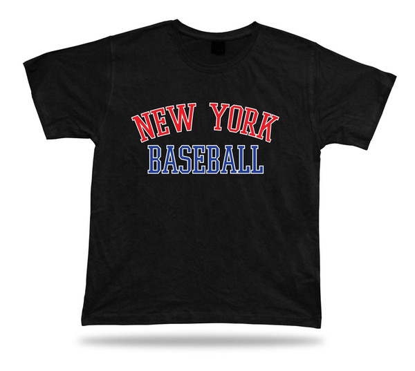 New York BASEBALL t-shirt tee red white blue NY summer apparel field design Men Women Unisex Fashion tshirt Free Shipping black