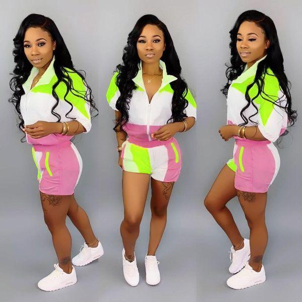 Abbigliamento donna 1/2 manica abiti 2 pezzi set moda tuta con pannelli da jogging tuta sportiva felpa tuta sportiva tuta klw0717