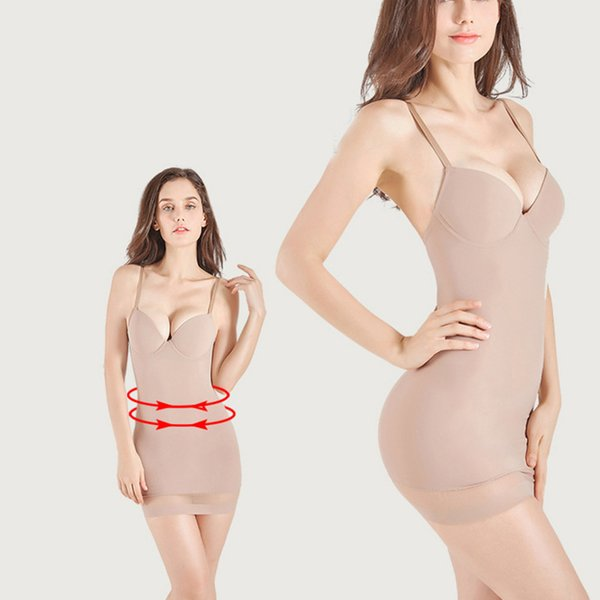 Women Ultra-Thin High-Waisted Control Shapewear Slim Body Shaper Dress