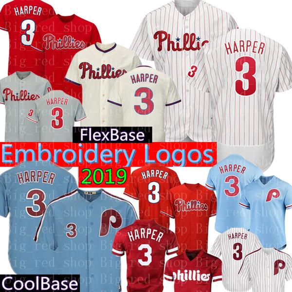04afe21d9 3 Bryce Harper 150th Baseball Jerseys Philadelphia Phillies Majestic Cool  Base FlexBase Retro Jersey Mens 7 Maikel Franco 10 Daulton UK 2019 From ...