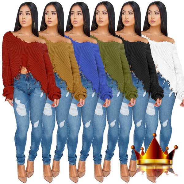 Woolen V-Neck winter Women Oversize Knitted Sweater Full Batwing Sleeve Tops blouse smock Pullover Loose Outwear Z035