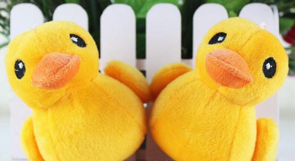 Bambola sveglia dei giocattoli molli della peluche di Duck Stuffed Animal gialla sveglia di bellezza