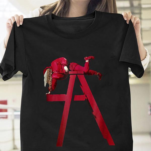 Billie Eilish Ne me souriez pas T-shirt Noir Coton Hommes S-3XL