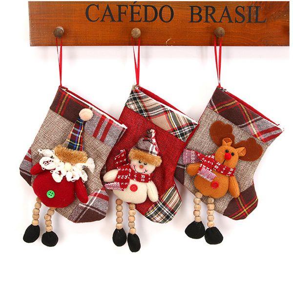 Weihnachtsstrumpf Mini Socke Weihnachtsmann Süßigkeiten Geschenktüte Weihnachtsbaum Hängen Anhänger Tropfen Ornamente Dekorationen Für Zuhause