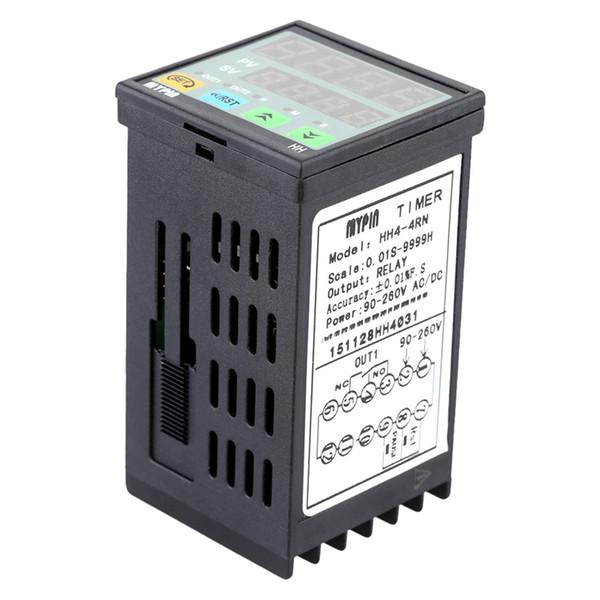 Endüstriyel Kullanım İçin 90-260V AC / DC Dijital LED Zamanlayıcı sayım Zaman Sayacı Display 4 Basamakları Freeshipping