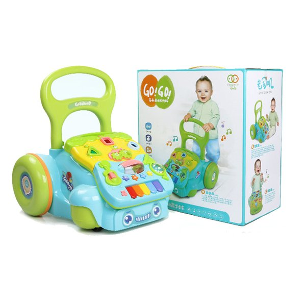 Baby Walkers Toddler Learning Walk Music Toys 3-18 Months Children's Anti-rollover Trails Adjust The Height In The Two Gear