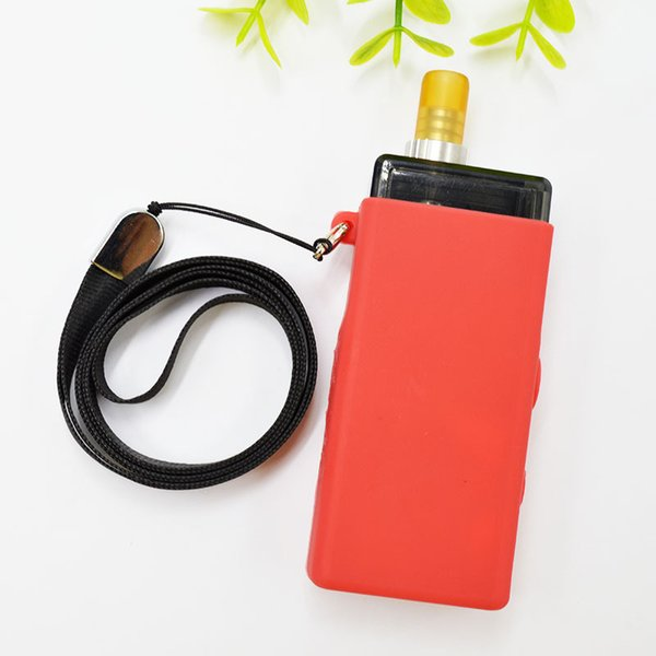 Colorful silicon case with lanyard for Smoant Pasito Vape Mod bag string necklace case DHL Free