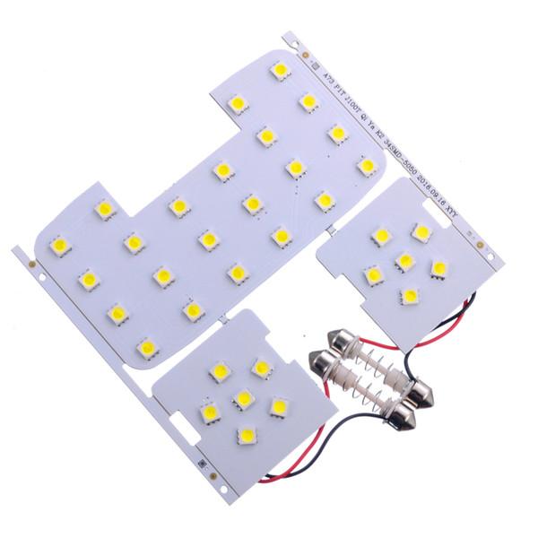 3 pcs Novas Luzes de Leitura Dome Lâmpadas para Kia Rio K2 Carro Lâmpada LED Auto Dome Lâmpada Interior com Adaptador T10 Festão Base de 12 V DC
