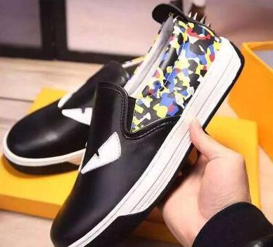 A mais recente moda 5 cores de alta qualidade pequeno monstro olhos camuflagem panda estilo rebite conjunto de pé homens de couro sapatos casuais tamanho eu38-45