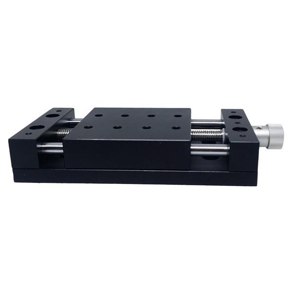 PT-S40 manueller Übersetzungstisch X-Achse Linearschlitten Schlittentisch Hub 40 mm, 80 mm, Linearstation, optische Gleitplattform