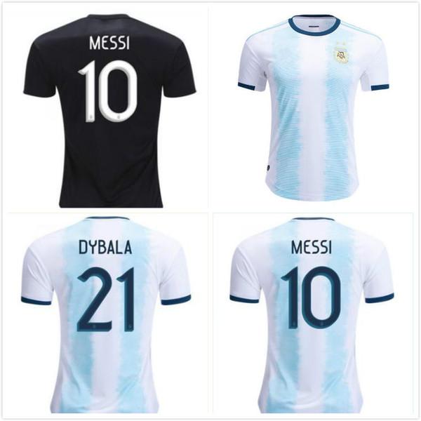 buy popular 0687d d9301 2019 2019 Argentina Home Away Jersey Argentina MESSI DYBALA Men'S Tshirt  HIGUAIN Soccer Shirt Home National Team 19 20 Football Jersey Homme From ...