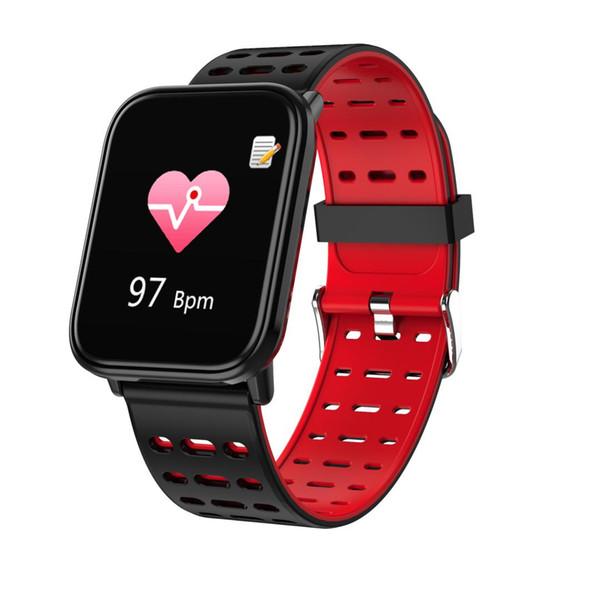 Ogeda homens smart watch smartband pulseira de fitness grande tela de toque oled mensagem heart rate tempo sleep snap inteligente pulseira 2019