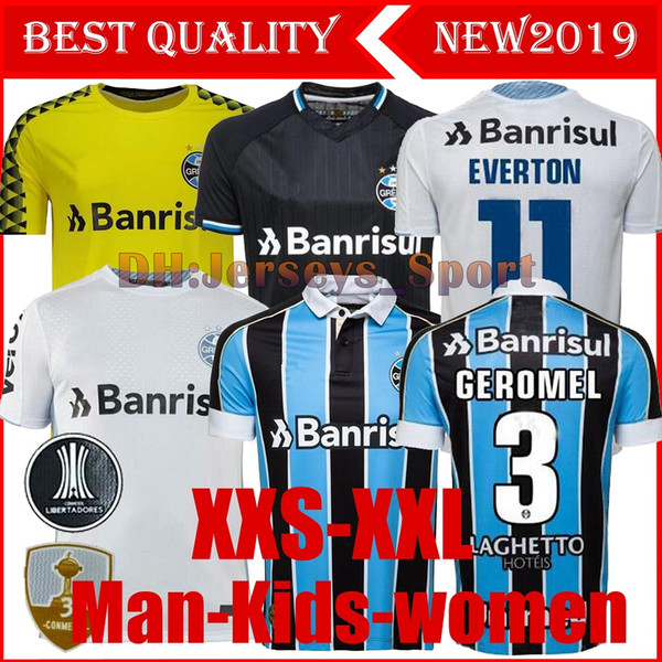 Meilleur Qualité 2019 Gremio Soccer Jersey 19 20 Gremio MILLER LUAN DOUGLAS DIEGO HAILON Domicile Extérieur troisième maillots de football camisetas de futbol