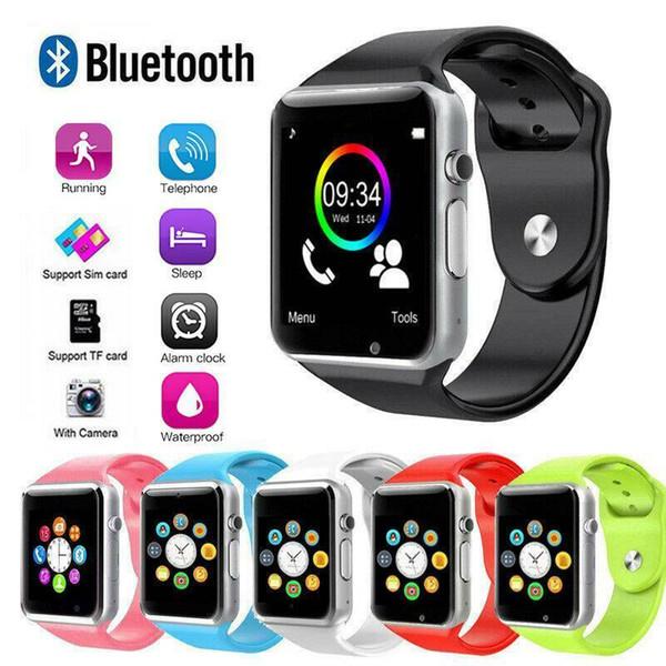 ÜST Akıllı İzle Saat Sync Notifier Destek SIM TF Kart Bağlantı Apple iphone Android Telefon Smartwatch PK GT08 U8 M2 A1