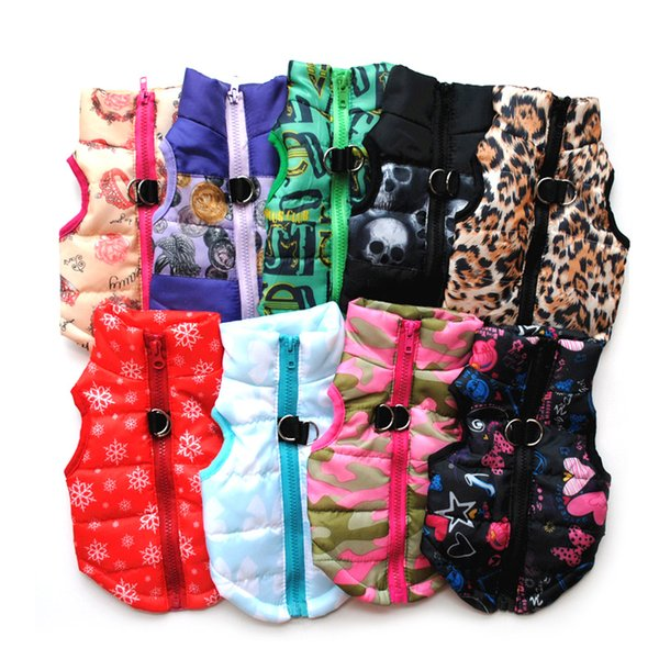 Pet Clothes Puppy Outfit Vest Warm Dog Clothes For Small Dogs Winter Windproof Pets Dog Jacket Coat Padded Chihuahua Apparel