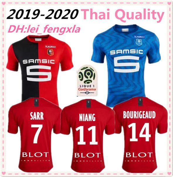 Stade Rennais 19 20 maison loin maillots de football 2019 2020 Rennes maillot de pied # 7 # 11 Sarr Niang # 14 BOURIGEAUD Andre enfants chemise de football