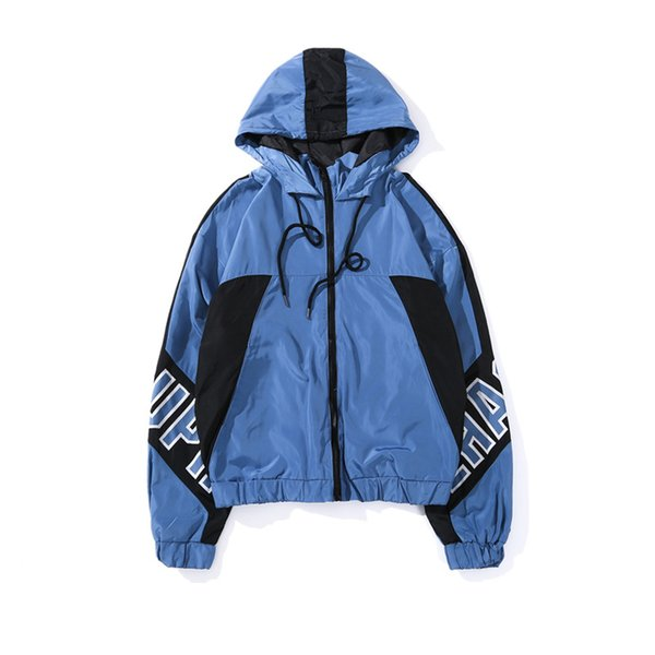 Japanese harajuku style jacket hooded windbreaker jacket men and women hip hop street dance Male clothes casual dress clothing