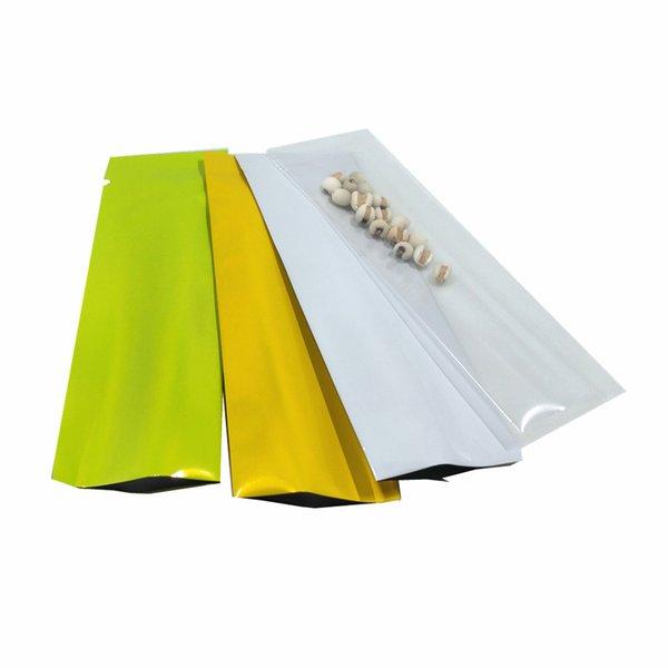 3.5x11 cm Multi Couleurs Ouvert Supérieur En Aluminium Aluminium Aluminium Thermique Scellant Sac D'emballage pour Candy Mylar