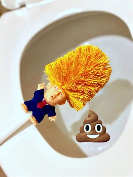 Creative Trump Toilet Brush Home Plastic Toilet Cleaning Tool Supplies 2020 Donald Trump Funny Handle Brushes Household Toilet Cleaner Hot
