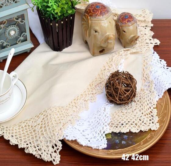 Modern Placemat Lace algodão café Tabela crochet pano lugar Mat caneca Coaster Doily copo cozinha casamento Pad Natal