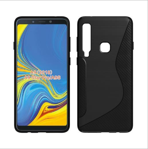 1.3mm NS Line Bumper Anti-knock Soft TPU Silicon Phone Cover Carbon Fiber Armor Cases For Samsung Glaxy A9 2018 Huawei Mate 20 Pro Mate 20X