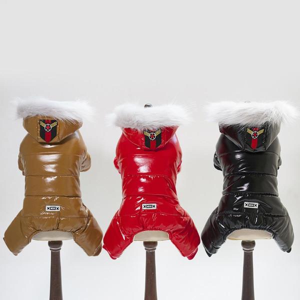 Зимняя одежда для собак для собак Теплая плюшевая куртка для домашних животных с четырьмя ногами Комбинезон для щенков Одежда для маленьких собак Костюмная одежда Ropa Perro